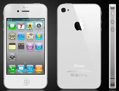 """White iPhone 4 - The """"Unicorn"""" phone, launched almost 10 months after the black one. Looked much better than its black counterpart."""
