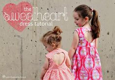 Sweetheart dress tutorial, love the back on this