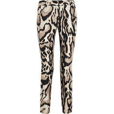 Diane von Furstenberg Mary animal-print wool-blend pants