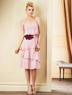 Alfred Angelo Bridesmaid Style 7266S in Love's First Blush/Berry