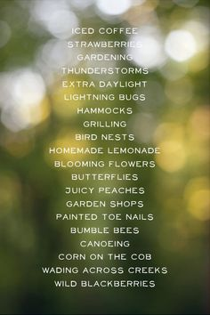 things i love about summer, summer lovin