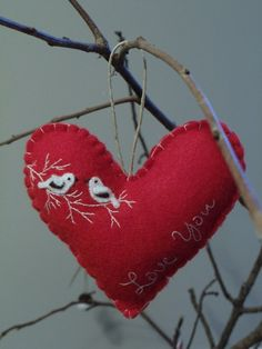 Felt Heart Ornament.