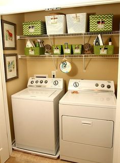 pretty laundry storage... just need to copy this