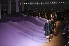 Prada's Purple Mountain S15  Milan Style.com Editors' Spring '15 Scrapbook - Gallery Slide 1