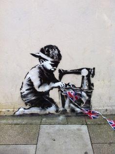 New Banksy: He's in the Jubilympic spirit.