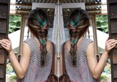 {fishtail braid with a color twist} ♥