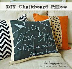 DIY Pottery Barn Inspired Chalkboard Pillow