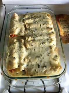 Spicy Shrimp Enchiladas with Jalapeño Cream Sauce - These would be great with Udi's GF Flour Tortillas as well!