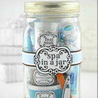 Spa In A Jar from Mason Jar Crafts Love