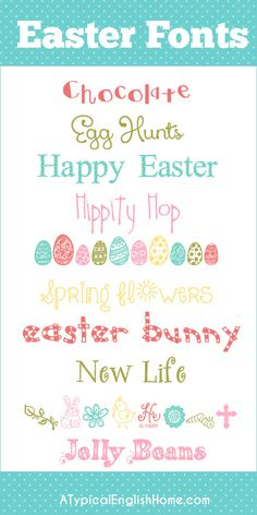 Easter Fonts Collection 2014 - A Typical English Home