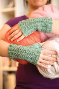 Carved Jade Mitts pattern - from Love of Knitting magazine's special Knit Accessories 2014 Issue