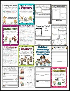 COMMON CORE GUIDED READING SHEETS AND CENTER FOR 1ST-3RD - TeachersPayTeachers.com