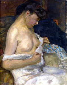 Woman Removing Her Shirt - Pierre Bonnard