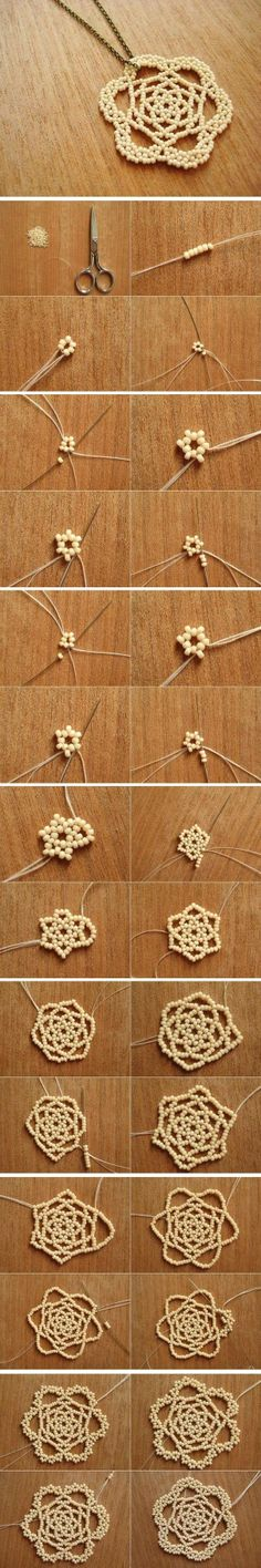 Used to make these when I was a kid - diy beads flower