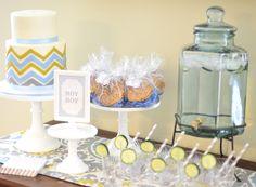 Chevron Baby Shower Cake baby shower cakes, shower idea, sister shower, babi shower, chevron cakes, baby showers