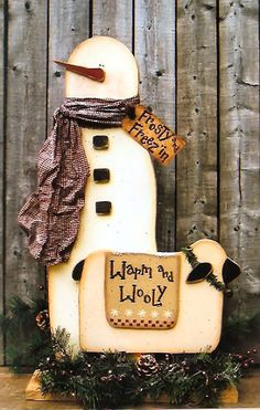 ... wood crafts, snowman crafts, country patterns, wood, crafts, wood