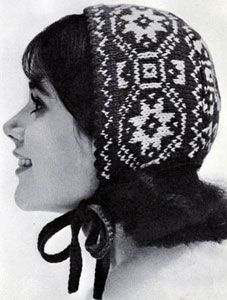 Norwegian Baby Cap knit pattern from High Fashion Hats, originally published by Bernhard Ulmann, Volume 62, in 1961.
