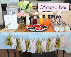 Mimosa Bar.  Perfect for wedding and baby showers