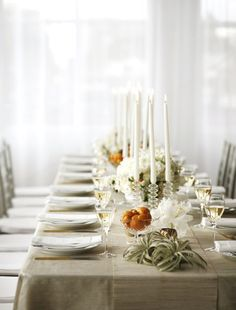 Neutral table setting.