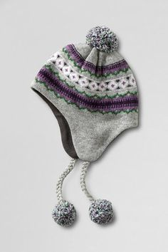 Women's Fair Isle Peruvian Hat from Lands' End