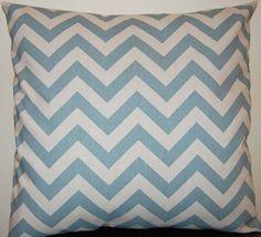 Chevron Decorative Pillows Blue Accent Pillows by FestiveHomeDecor, $32.00