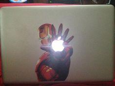 Iron Man Macbook Decal from Full Sail student Stephen Mazeika.