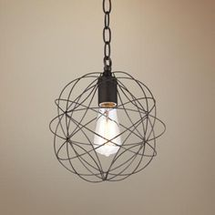 "La Joya 9"" Wide Orbital Bronze Pendant Light -"