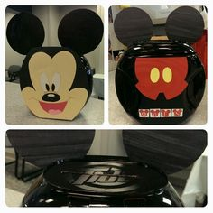 We created a Mickey Mouse Valentines box made from a recycled Tide Pods container.