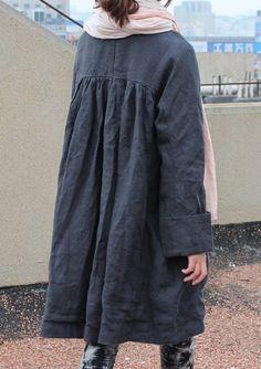 black linen coat - a good staple