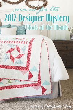 2012 Designer Mystery Block of the Month!     http://www.fatquartershop.com/Designer-Mystery-Block-of-the-Month.asp