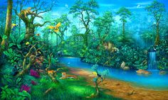 psychedelic rainforest