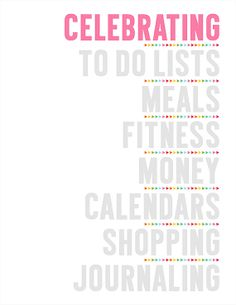 2014 Planner Section Dividers Printable PDF Planner Pages - instant download