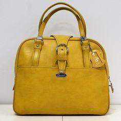 70s Mustard Travel Bag yellow, vintage, unknown
