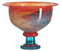 Kosta Boda Can Can                                             Footed Bowl (orange)