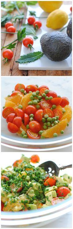 Avocado, Heckuva Salad, Avocado Citrus, Salads Vegetables, Salad ...