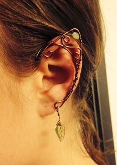 Wire woodland elf / woodland fairy elf ear cuff by ElysianPearl, $25.00