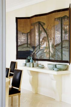 Japanese folding screen -byobu- 屏風