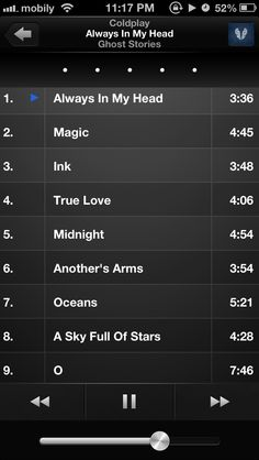 Listen and rate ! #coldplay #ghoststories