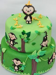 monkey cake @Lisa Phillips-Barton Phillips-Barton Mormile
