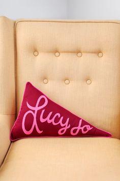 Pennant Pillow DIY - A BEAUTIFUL MESS