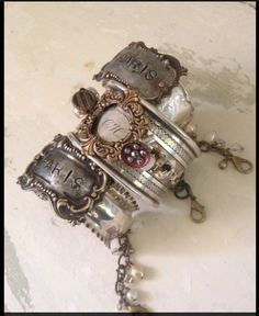 Beautiful Downton Heirloom cuffs by Lora Royster!