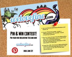 Pin 5 or more #Welovefinetees and you could win! (click for rules)