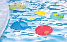 Pool Party Toss – great party game for the kids. #kids #partyidea