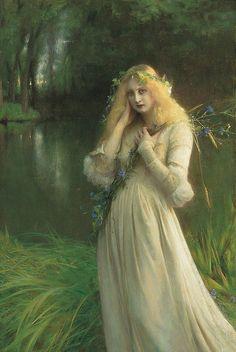 "Pascal Adolphe Jean Dagnan-Bouveret (French, 1852-1929), ""Ophelia"""
