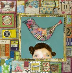 art mixed media -- love Kelly Rae's work!