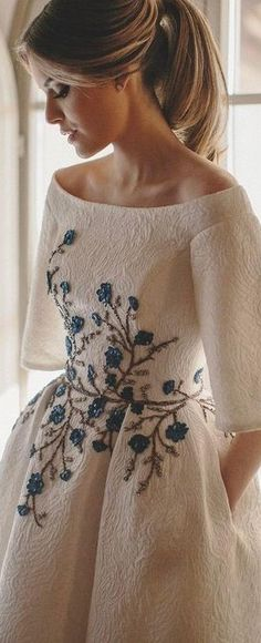 Embroidered wedding
