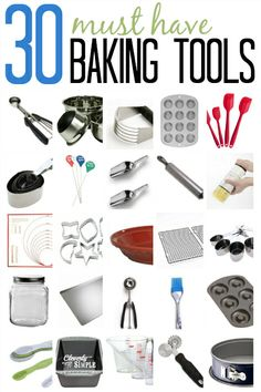 This is a comprehensive list of baking tools that make baking so enjoyable and successful!