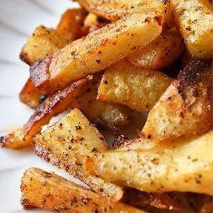 Spiced Sweet Potato Fries (via www.foodily.com/r/TVBGIQArf)