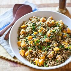 Recipe: Spiced Butternut Squash and Sorghum Salad with Raisins & Pepitas Recipes from The Kitchn | The Kitchn