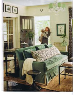 love this living room from February's Southern Living